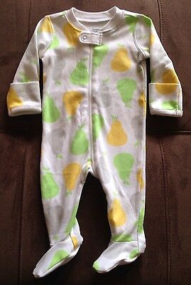 Nwt Gymboree Unisex Baby Size 0-3 Months White Green Yellow Gray Pear Sleeper