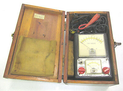 Vintage King Electric Equipment 6-12-24 Volt Amp.Res.Tester Ohio Edison