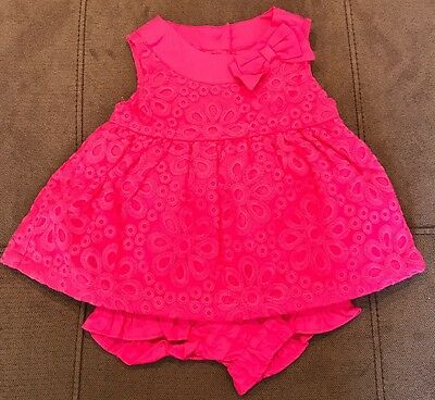 Nwt Gymboree Egg Hunt Pink Floral 2 Pc Outfit Baby Girls Size 6-12 Months E