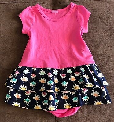 Nwt Gymboree Baby Girls Size 18-24 Months Navy Pink Floral Dress