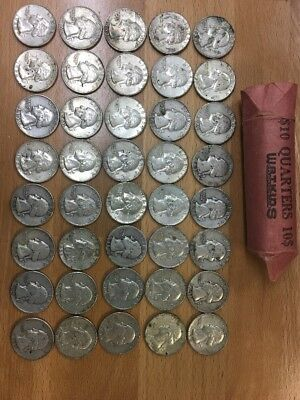 Lot Of 40 (Mixed Date) US Silver Quarters
