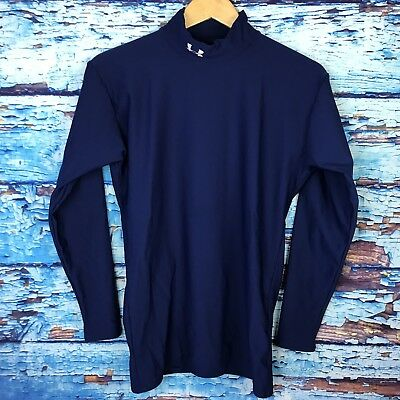 Men's Under Armour Blue Athletic Compression Base Layer Shirt L
