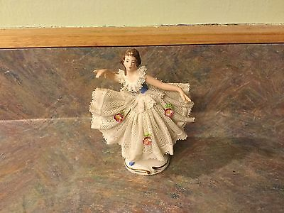 Dresden Lace Figurine 31/2 Inch
