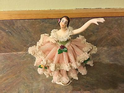 Dresden Lace Figurine 4 Inch