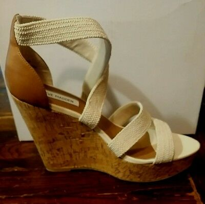 68175321c0e Camdyn By Steve Madden - Women s Wedge Heel Sandals In Natural - Size 9.5 -  Nib
