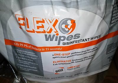 *New* One (1) Roll of Flexwipes Flex Wipes Refill 800 ct ea Gym Disinfectant