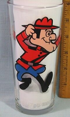 """1970's PEPSI COLLECTORS SERIES GLASS DUDLEY DO RIGHT 6"""""""