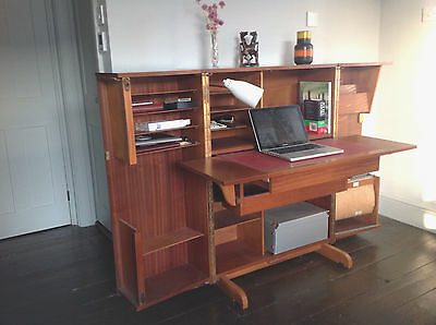Stylish mid-century fold away home office