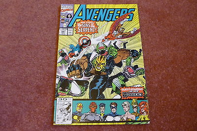 The Mighty Avengers No.341(Vol.1) 1991 vsSons of the Serpent guest New Warriors