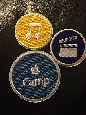 Apple Camp Patches Sticks iMovie iTunes