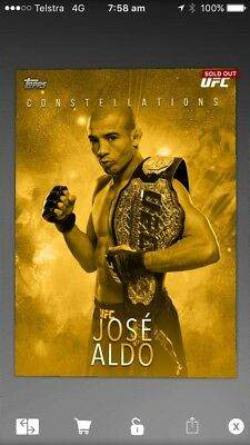 topps ufc knockout digital Gold Constellation Award (51cc)