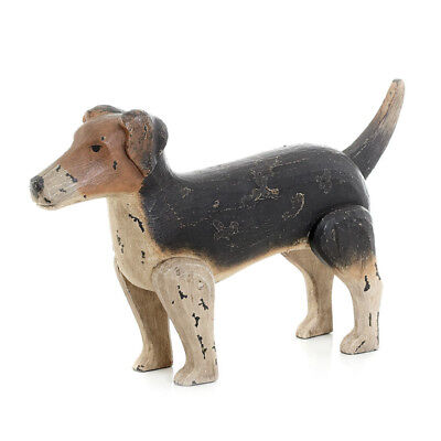 Classic Style Antique Painted Finish Jack Russell Dog Home Accent Decor 10078