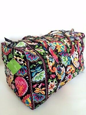 NWT Vera Bradley Large Duffel Bag in Disney Midnight With Mickey Limited Edition