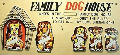 Family Dog House Wall Plaque