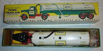 1964 Hess B Mack Tanker Truck with Box red Funnel and Instructions Rare Find