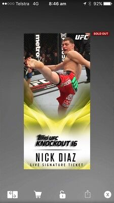 topps ufc knockout digital Live Signature Ticket (20cc)