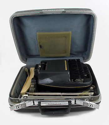 Stenograph Steno-Electric Reporter Shorthand Vintage Machine With Stand And Case