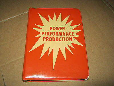 AC Allis-Chalmers Tractor Dealer Data Book Power Performance Production Binder