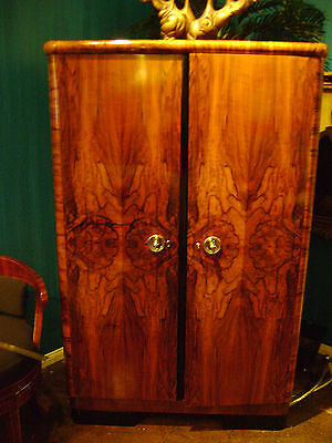 Art Deco Closet-Gorgeous & Book-matched Glowing Walnut