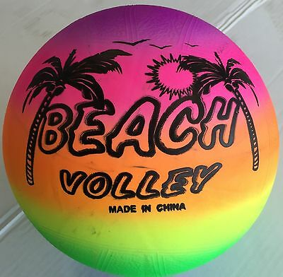 New Rainbow Indoor/Outdoor Kids Playing Beach Volley Ball -Size 5