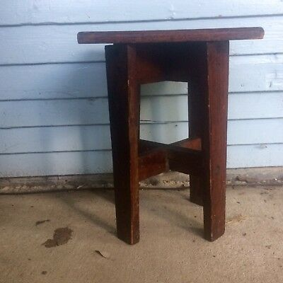 mission arts crafts Small Wood Table