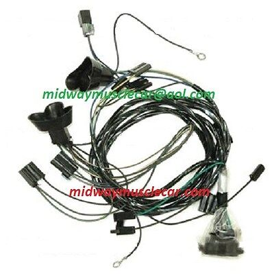 front end headlight lamp wiring harness 65 Pontiac GTO Lemans tempest 1965