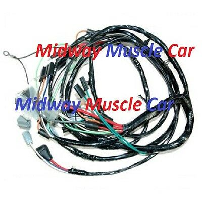 front end head light lamp wiring harness 64 65 66 67 Chevy Chevelle Malibu