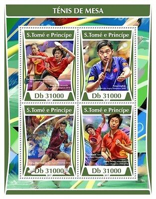 Z08 IMPERF ST17304a Sao Tome and Principe 2017 Table tennis MNH ** Postfrisch
