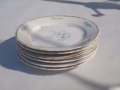 "Johann Havilland Flower  Pattern 6- 6"" wide Bread Plates.  #63  Germany"