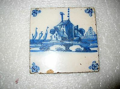 Antique Delft Tile Lighthouse?
