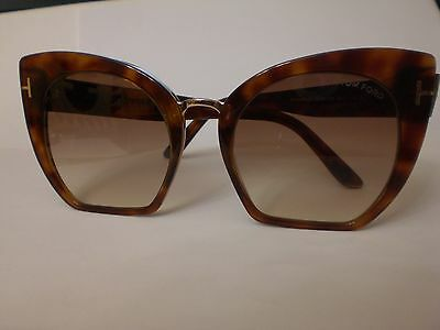 Tom Ford Samantha 02 Tf553-53F  Blonde Havana/brown Gradient 55*21* Authentic