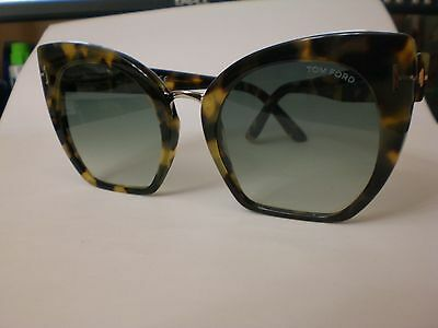 Tom Ford Samantha 02 Tf553-56W Havana/blue Gradient  55*21* Authentic