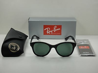 Ray-Ban Women's Sunglasses Rb4203 601 Black Frame/green Classic Lens 51Mm New!