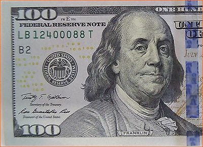 100 Dollar Bill  2009 - FEDERAL RESERVE NOTE, UNCIRCULATED, FAST SHIPPING !!!!
