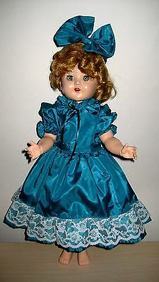 "Vintage 1950s Walker Doll 18"" Horseman 180 SHIRLEY TEMPLE CLONE LOVELY DOLL"