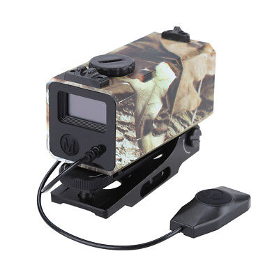Tactical Aiming Laser Range Finder Sight Rifle Scope with Mount For Hunting 700m