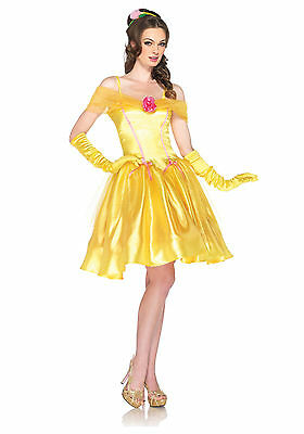 Disney Leg Avenue Princess Belle Beauty Women Adult Costume S/M