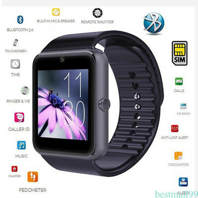 Bluetooth Camera Smart Watch Wristwatch Touch Pedometer for Android iPhone GSM
