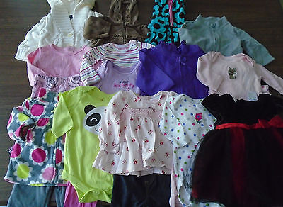 Used 22 Pc. Lot Of Newborn Baby Girl Clothes 0-6 Months Euc