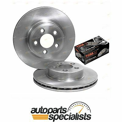 2 Front Disc Rotors + Brake Pads Kit Ford Territory SX SY SZ MK RWD AWD 2004~14