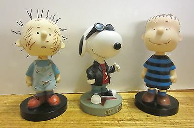 3 Westland Peanuts Bobble Heads Joe Cool 8164, Pig Pen 8162, Linus 8155