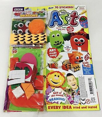 CBeebies ART Magazine #117 - FREE All You Need To Make Set! (NEW)