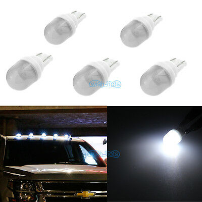 5x White Clearance Cab Marker Roof Light Ceramics LED Bulbs For Ford Super Duty