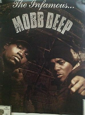 RARE MOBB DEEP.  -INFAMY  24 x 30 Promo 2- sided Poster PRODIGY High Gloss