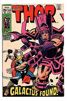 THE MIGHTY THOR #168 FN/VF Marvel Comics origin of Galactus silver age Avengers