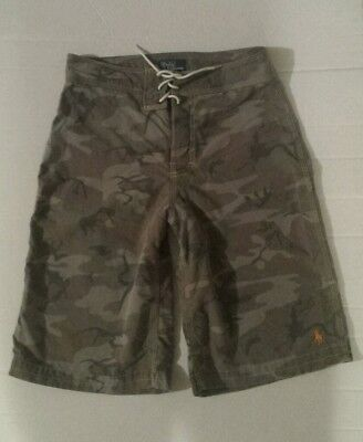 Polo Ralph Lauren Boys Sz. M (10-12) Swim Boxer  Trunks Kids Swimwear