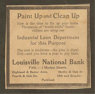 Louisville National Bank Ad Courier Journal (Louisville, Ky), 1927