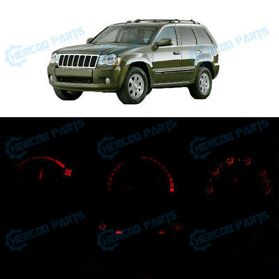 Red Climate Heater AC Control Bulb LED Lights for Grand Cherokee 3 Knob 05-07