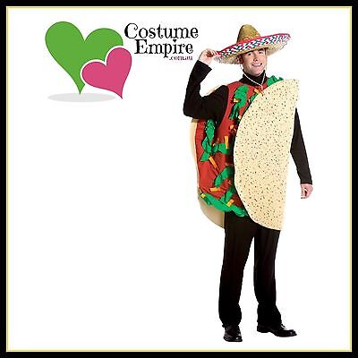 Men's Taco Man Mexican Funny Food Halloween Fancy Dress Adult Unisex Costume