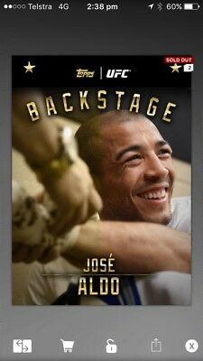 topps ufc knockout digital Backstage Checkpoint Award (65cc)